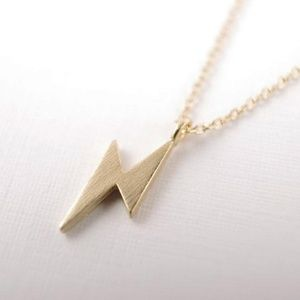 Jewelry - Gold Lightning Bolt Necklace